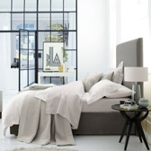 Buy Belgravia Quilt & Cushion Covers - Silver from The White Company