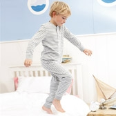 Buy Breton Stripe Henley Pyjamas from The White Company