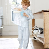Buy Gingham Pyjamas - Blue from The White Company