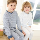 Buy Striped Jersey Pyjamas - 2-Pack from The White Company