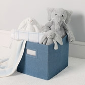 Buy Storage Cube - Chambray from The White Company