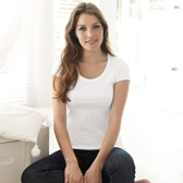 Buy Cap Sleeve T-Shirt - White from The White Company