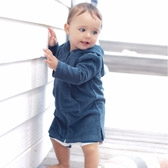 Buy Baby Towelling Cover-Up - Nautical Blue from The White Company