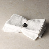 Buy Tumbled Cotton Linen Napkins - Set of 4 from The White Company