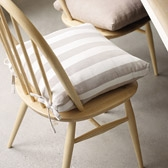 Buy Wide Stripe Seat Pad from The White Company