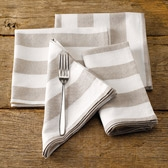 Buy Wide Stripe Napkins - Set of 4 from The White Company
