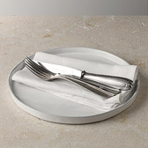 Buy Stoneware Round Flat Plate from The White Company
