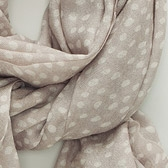 Buy Dotty Wool Scarf - Stone from The White Company