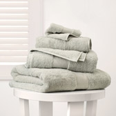 Buy Egyptian Cotton Towels - Eucalyptus from The White Company