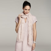 Buy Flower Bud Print Scarf - Dusky Pink from The White Company