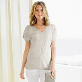 Buy Foil Printed Knitted Top - Feather Grey from The White Company