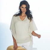 Buy Flutter Sleeve Sweater - Natural from The White Company