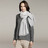 Buy Fading Stripe Woven Scarf - Grey Stripe from The White Company