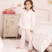 Buy Gingham Pyjamas - Pink from The White Company