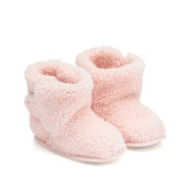 Buy Sherpa Slipper Booties - Baby Pink from The White Company