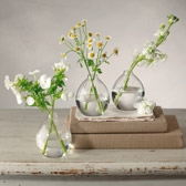 Buy Ribbed Bud Vase - Set of 3 from The White Company