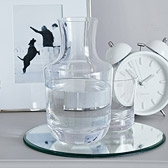 Glass Carafe & Tumbler