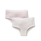 Buy Stripe & Heart Jersey Briefs -2-Pack from The White Company