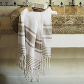 Buy Herringbone Stripe Towels from The White Company