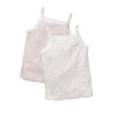 Buy Stripe & Heart Jersey Vests -2-Pack from The White Company