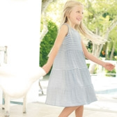 Buy Stripe Jersey Dress from The White Company