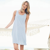 Buy Lace Slub Jersey Nightdress - Pale Blue from The White Company