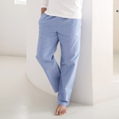 Buy Men's Chambray Pyjama Bottoms - Blue from The White Company