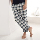Buy Men's Pyjama Bottoms - Blue/Grey from The White Company