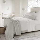 Buy Morgan Throw - Silver Grey from The White Company