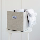 Buy Storage Cube - Natural from The White Company