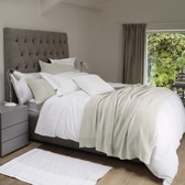Buy Newport Throw & Cushion Covers - Soft Grey from The White Company
