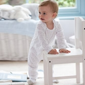 Buy Moon & Star Sleepsuit from The White Company
