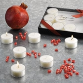 Buy Pomegranate Tealights - Set of 12 from The White Company