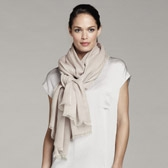 Buy Plain Open Weave Scarf - Dusky Pink from The White Company