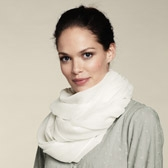 Buy Plain Open Weave Scarf - Dew from The White Company
