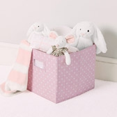 Buy Storage Cube - Pink Polka Dot from The White Company