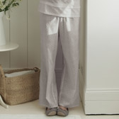 Buy Random Dobby Pyjama Bottoms - Silver from The White Company
