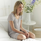 Buy Random Dobby Nightdress - Silver from The White Company