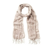 Buy Ripple Print Scarf - Stone from The White Company