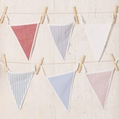 Buy Sailboats Bunting from The White Company