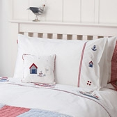 Buy Sailboats Cot Bed Linen from The White Company