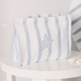 Buy Stripe Washbag - Blue from The White Company