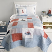 Buy Sailboats Cot Bed Quilt from The White Company