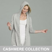 Buy Cashmere Hooded Cardigan - Silver from The White Company