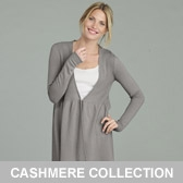 Buy Cashmere Rib Bodice Cardigan - Rose Grey from The White Company