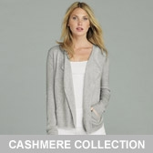 Buy Waterfall Cashmere Cardigan - Silver Grey from The White Company