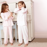Buy Stripe Heart Pyjamas 2 Pack from The White Company
