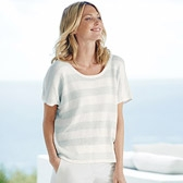 Buy Sparkle Stripe Knitted Top - White from The White Company
