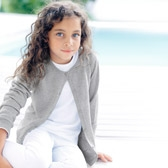 Buy Girls' Sparkle Cardigan - Silver from The White Company