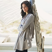 Buy Sparkle Pocket Cardigan - Taupe from The White Company